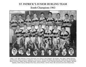 South Junior Hurling Champions 1963